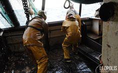 Hard direty job #Fishing #peche #fisherman #yellowsuit #sea #mer #net #filet #seaboat #north #nord #Leopolismagazine #LPM #Lille #LPM0 #photojournalism #editorial