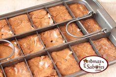 Aromas e Sabores: Receita de brownie de chocolate com amêndoas