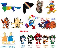 Olympic mascots since 1972. Add Around The Rings on www.Twitter.com/AroundTheRings  www.Facebook.com/AroundTheRings for the latest info on the #Olympics.