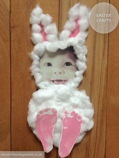 Baby's first easter, fun easter crafts to make wit Easter Crafts To Make, Easter Crafts For Toddlers, Easter Gifts For Kids, Crafts For Teens To Make, Easter Egg Crafts, Bunny Crafts, Kids Crafts, Diy And Crafts, Easter Ideas For Kids