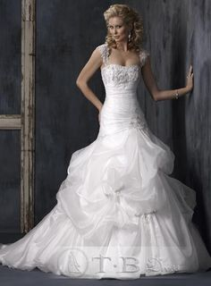 Beautiful  And   V Neck Sweetheart Floor-length Veiled Ivory Sleeveless Chapel Train Vintage Wedding Dresses
