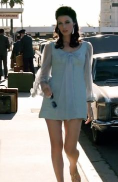 Megan Draper Dress...Loved this scene! Of course, to be wearable for me, it'd need to be just above the knee. Love this late 60's inspiration.