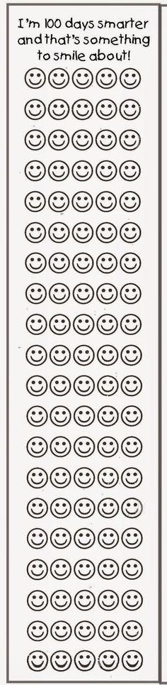 Classroom Freebies: 100 Day Bookmark