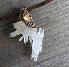 FREE SHIPPING Citrine Drop Pendant Quartz Crystal Cluster Sun Fairy Gemstone Tribal Mens Jewellery Healing Necklace Magic Hippie Gypsy
