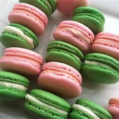 Macaron (macaroon)  Original recipe makes 16 macarons   3 egg whites  1/4 cup white sugar  1 2/3 cups confectioners' sugar  1 cup finely ground almonds