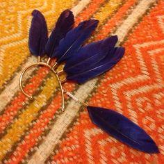 Ear Cuff Feather adorned ear cuff H&M Jewelry Earrings