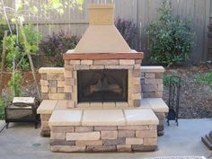 Beautifully Completed Outdoor Fireplace That Was Installed Using A Perfect Outdoor Fireplace Kit With Some