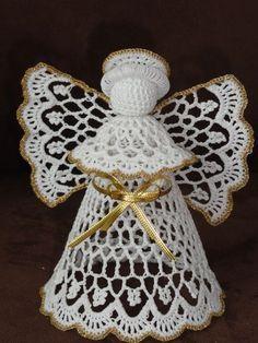 anděl - Her Crochet Crochet Christmas Ornaments, Christmas Crochet Patterns, Christmas Angels, Handmade Christmas, Crochet Angel Pattern, Crochet Angels, Thread Crochet, Diy Crochet, Christmas Sewing Projects