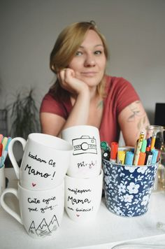 Mugs, Tableware, Handmade, Dinnerware, Cups, Dishes, Craft, Mug, Arm Work
