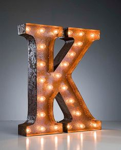 Vintage Marquee Lights Letter K - for my friend @pinkandpolkadot