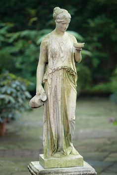 """This Italian looking statue reminds me of the fountain we had in our old house that we named """"Maria."""" Does anyone else name inanimate objects...cars, homes, etc?"""