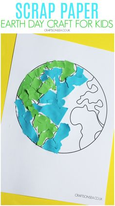 Grab some scrap paper and make this torn paper Earth Day craft for kids using our free Earth template. Earth Craft, Earth Day Crafts, Motor Skills Activities, Activities For Kids, Toddler Preschool, Preschool Crafts, Torn Paper, Crafts For Kids To Make, Colored Paper