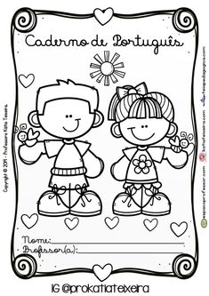 Capas para cadernos do aluno super fofas - Espaço Professor Colouring Pics, Coloring Pages, Snoopy, Clip Art, Teen, Education, Comics, Children, Creative