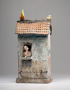 Masterworks: Peter VandenBerge. Shubirds Song House. ca. 1993.  (6/4/2011 - Cowan's+Clark+DelVecchio Ceramics Auction)