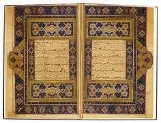A copy of a Koran in 30 parts, written in Naskh Iran, Herat?; 925 H = 1519 Each leaf: 23.8 × 15.8 cm This Koran has had a turbulent life. It...