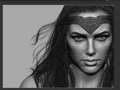 ArtStation - Wonderwoman-head Wip, B ge