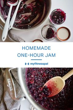Making homemade jam