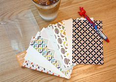 Scandinavian pattern postcard set
