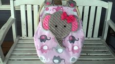 Made To Order Elephant Car Seat Canopy With Peek-ABoo