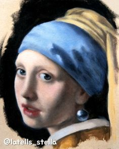 Visit the link to watch the whole painting process Michelangelo Paintings, Vermeer Paintings, Famous Art Paintings, Johannes Vermeer, Renaissance Art, Art Drawings Sketches, Acrylic Painting Canvas, Portrait Art, Watercolor Paintings