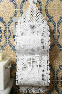 It is the details that make all the difference in the decoration. Crochet Kitchen, Crochet Home, Crochet Gifts, Crochet Baby, Knit Crochet, Crochet Chart, Crochet Motif, Crochet Doilies, Crochet Patterns