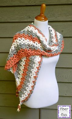 The Tidepool wrap is lacy and comfy with wonderful drape.  Crocheted in cool cotton, it is perfect when you just need a little something for the shoulders.  Fun beads add a fabulous accent too!  Tidep