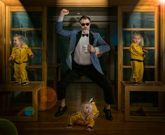 """World's Best Father"" photographer Dave Engledow captures father-daughter ironic-funny relationship in new series of photos featuring adorable Alice Bee"