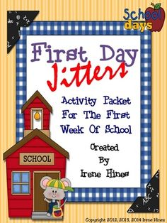 First Day Jitters ~ Back To School Activity Unit For The First Month Of School from Irene Hines on TeachersNotebook.com (175 pages)