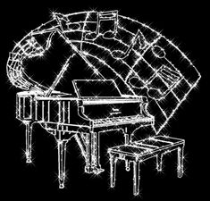 Black and white Piano Music, Art Music, Music Gif, Beautiful Gif, Beautiful Pictures, Happy Valentines Day Gif, Gifs, Glitter Graphics, Gif Pictures