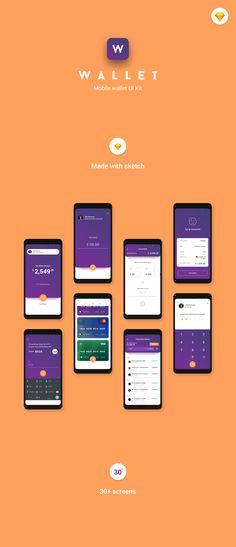 Wallet mobile ui kit — ui kits on Mobile Ui Design, App Ui Design, Interface Design, Mobile Wallet App, Advertising Logo, Ui Design Inspiration, Internet, Log In Ui, Kit