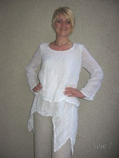 Eco friendly linen blouse made of two layers of tissue by rubuartele on Etsy https://www.etsy.com/listing/102458096/eco-friendly-linen-blouse-made-of-two