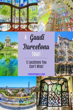 Heading to Barcelona? Never heard of Gaudí? Whether you have or haven\'t, you won\'t want to miss seeing the great work of this Spanish architect. Be sure to put a Gaudi Barcelona tour on your agenda and see these five locations! #gaudi #barcelona #spain #tour #achitecture #destination #travel