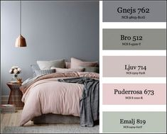 me beautiful bedroom color schemes i. Small Bedroom Colours, Best Bedroom Colors, Bedroom Colour Palette, Bedroom Color Schemes, Paint Colors For Living Room, Small Room Bedroom, Bedroom Green, Home Bedroom, Dusty Pink Bedroom