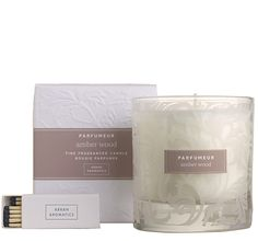 Gifts - Amber Wood Candle in Glass 38cl £19.50