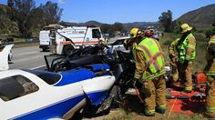 A woman was killed on Saturday morning when a small plane crashed landed onto a San Diego County highway.