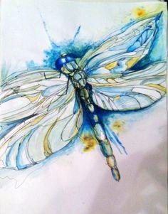 dissertation week by week Watercolor Paintings Of Animals, Cow Painting, Animal Paintings, Animal Drawings, Painting & Drawing, Watercolor Art, Dragonfly Painting, Dragonfly Art, Butterfly Art