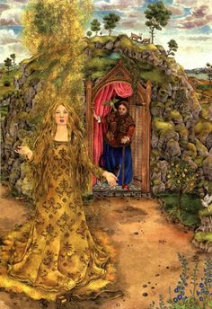 SurLaLune Fairy Tales Blog: Mother Holly by John Warren Stewig and illustrated by Johanna Westerman