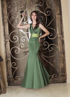 Bridesmaid Dress - I like the lighter green belt that breaks up the colour a bit.
