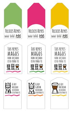 #Etiquetas navideñas de reyes magos gratis descargables para imprimir personalizar y decorar vuestros #regalos de #Navidad