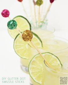54. #Glitter Swizzle #Sticks - Glitter Crafts: #Because Every Girl #Needs Sparkle in Her Life ... → DIY #Studs