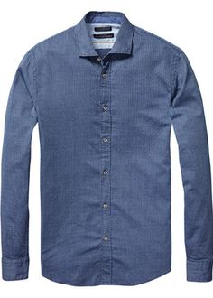 Buy Scotch & Soda Longsleeve Shirt in Grindle Yarn. Free UK Delivery available on all purchases at Dapper Street. Denim Button Up, Button Up Shirts, Scotch Soda, Dapper, Long Sleeve Shirts, Menswear, Shirt Dress, Couture, Sweaters