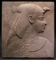 Relief Plaque Depicting a Queen or Goddess, Ptolemaic Period (305–30 B.C.); Egyptian (The Art Institute of Chicago)