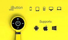 スマートフォンを操作出来るスタイリッシュで賢いリモコン : WiseButton