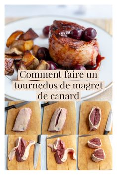 Make a duck tournedos - James Recipes Healthy Food Essay, Healthy Food Quotes, Healthy Food List, Healthy Foods To Eat, Duck Recipes, Meat Recipes, Cooking Recipes, Nutrition Food List, Food Porn