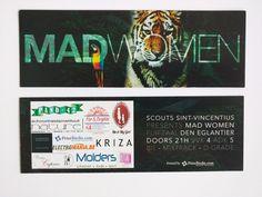 Madwomen scouts inkom ticket bedrukken Ticket, Mad Women, Scouts, Prints, Crazy Women, Boy Scouts, Boy Scouting, Cub Scouts