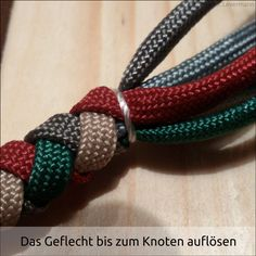 4 Strand Round Braid w/ Gaucho Knot Paracord Braids, Paracord Knots, 550 Paracord, Paracord Bracelets, Paracord Bracelet Instructions, Paracord Tutorial, 4 Strand Round Braid, Paracord Dog Leash, Swiss Paracord