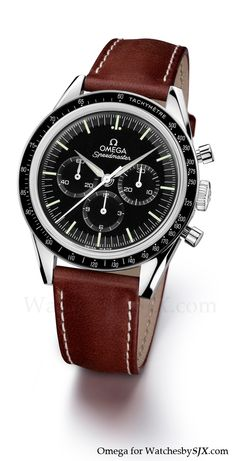 """Speedmaster """"First Omega in Space limited edition (Ref. 311.32.40.30.01.001)... re-edition of the watch from 50 yrs ago! Lemania 1861 chrono, 39.7mm, domed saphire crystal"""