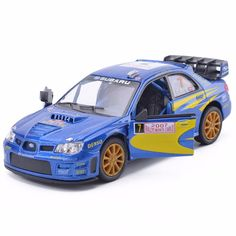 New KiNSMART 1:36 Scale Subaru Impreza WRC 2007 Racing Diecast Metal Car Model With Pull Back For Kids Gift Toys Free Shipping