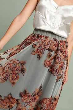 Rosie Embroidered Tulle Skirt