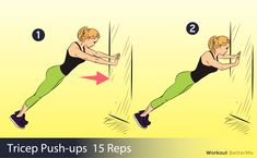 10 Minute Wall Workout to Reduce Flab From Your Arms and Tummy - Artical About Health And Fitness Wall Workout, Hip Workout, Woman Workout, Tummy Workout, Workout Fitness, Wand Training, Legs Up The Wall, Toned Abs, Workout Session